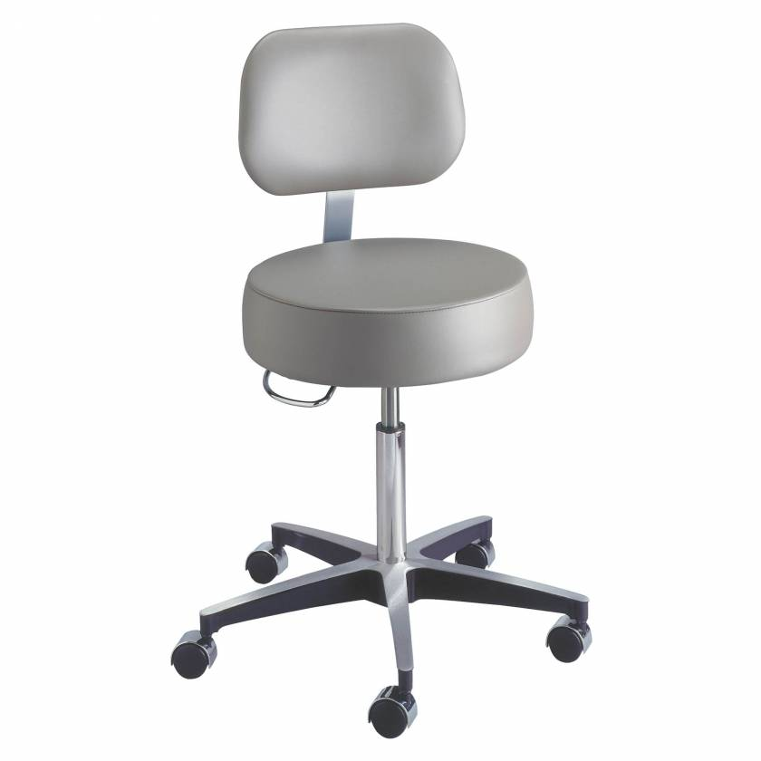 Model 11001BLCD Century Pneumatic Stool with Backrest & Locking Casters
