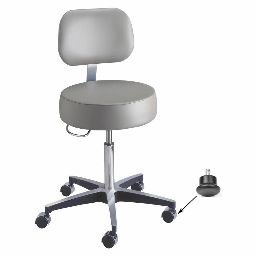 Century Pneumatic Stool with Backrest & Glides