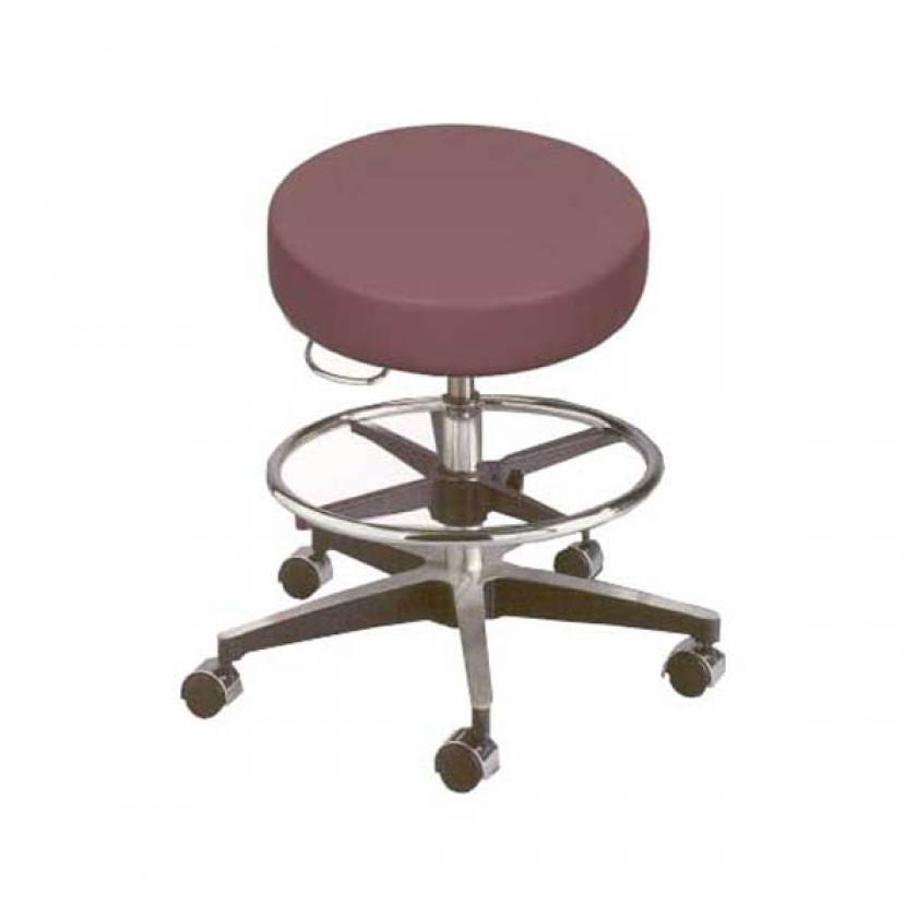 Model 11001VFR Century Pneumatic Stool with Seamless Seat & Adjustable Footring