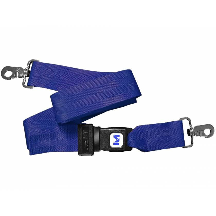Morrison Medical 1211-9 2-Piece Nylon Strap with Metal Push Button Buckle & Metal Swivel Speed Clip Ends - 9'