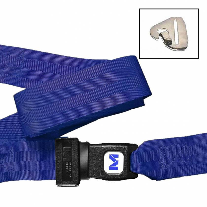 2-Piece Nylon Strap with Metal Push Button Buckle & Metal Non-Swivel Speed Clip Ends