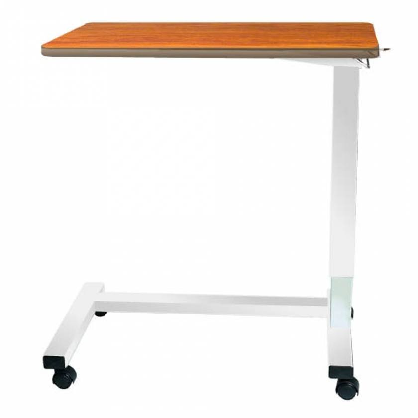 Model 124 Acute Care Overbed Table Without Vanity - Spring Assisted Lift Mechanism