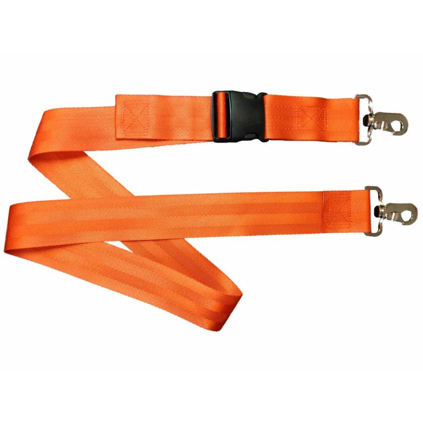 Morrison Medical 2-Piece Nylon Strap with Plastic Side Release Buckle & Metal Swivel Speed Clip Ends