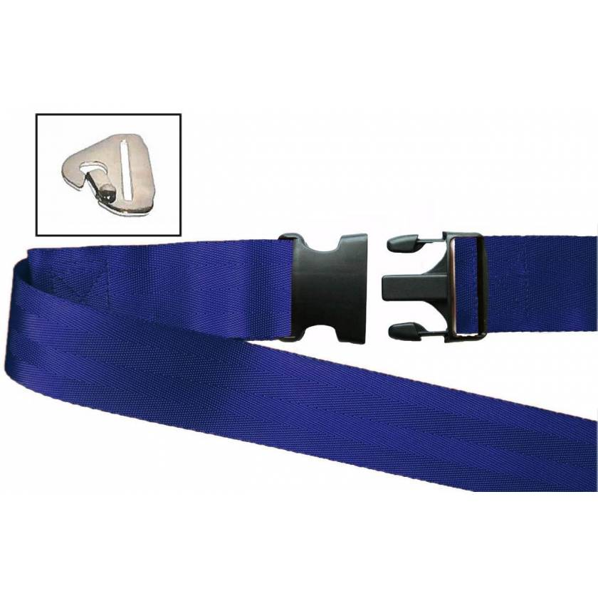 2-Piece Nylon Strap with Plastic Side Release Buckle & Metal Non-Swivel Speed Clip Ends