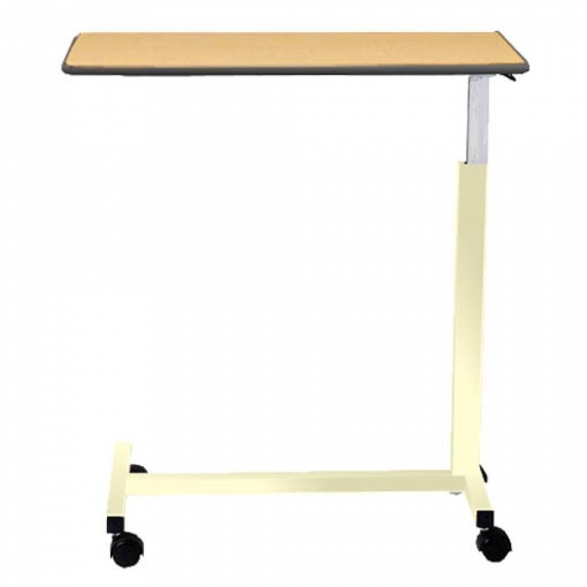 "Novum Medical Model 126 Economy Overbed Table - Built In 1/4"" Lip with Spring Assisted Lift Mechanism"