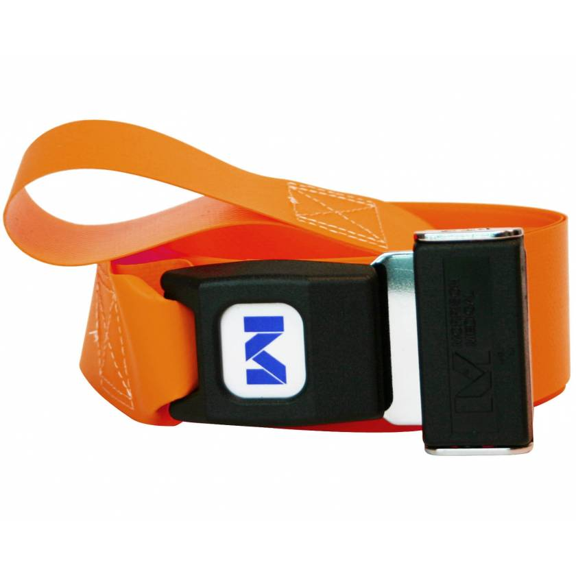 Morrison Medical 2-Piece Impervious Vinyl Strap with Metal Push Button Buckle & Loop-Lok Ends