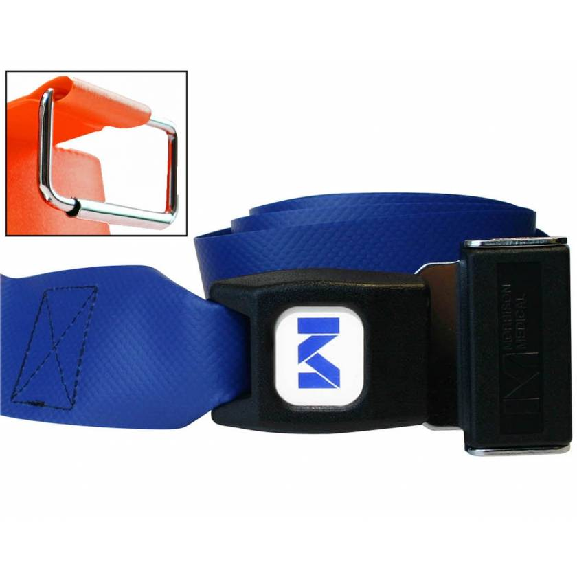 2-Piece Impervious Vinyl Strap with Metal Push Button Buckle & Metal Roller Loop Ends