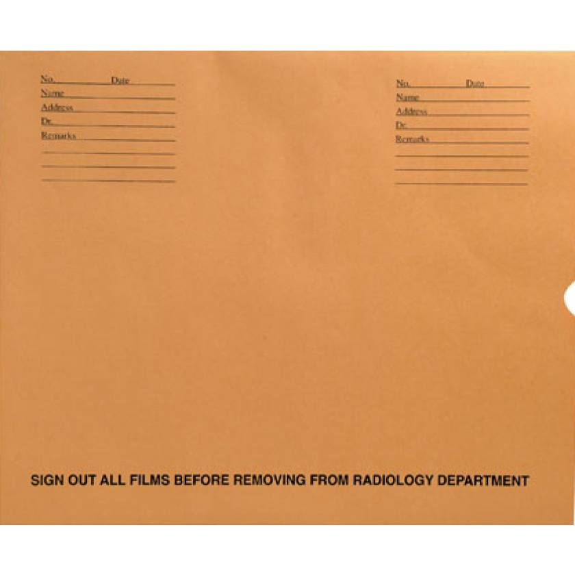 """14 1/2"""" x 17 1/2"""" Open End Negative Preserver with Thumb Cut - Brown Kraft"""