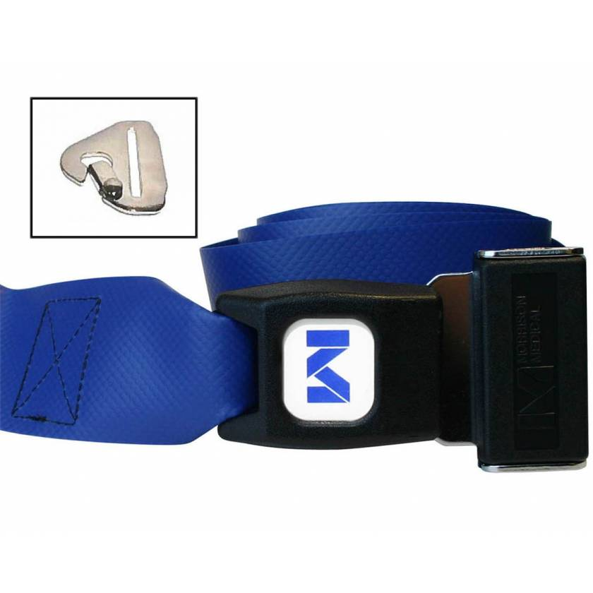 2-Piece Impervious Vinyl Strap with Metal Push Button Buckle & Metal Non-Swivel Speed Clip Ends
