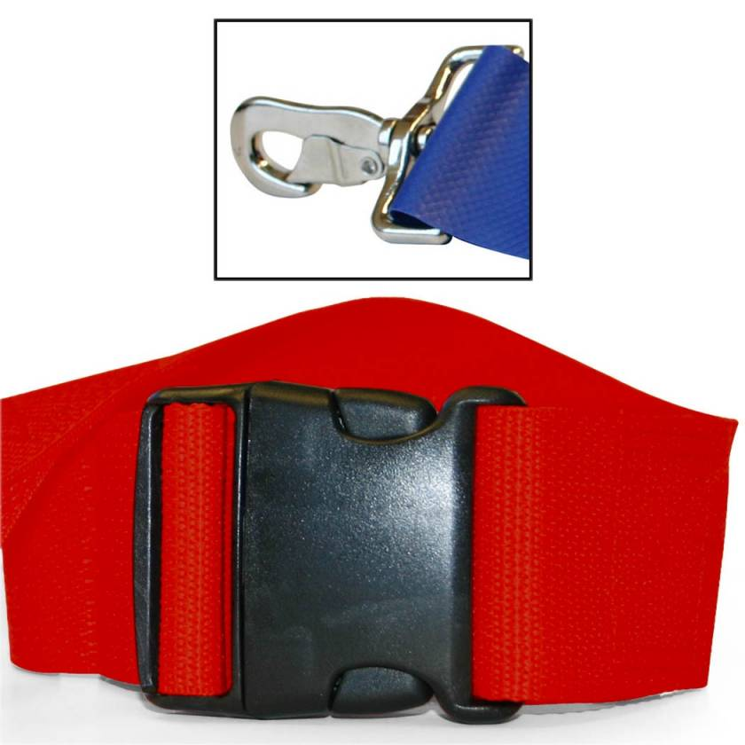 2-Piece Polypropylene Strap with Plastic Side Release Buckle & Metal Swivel Speed Clip Ends