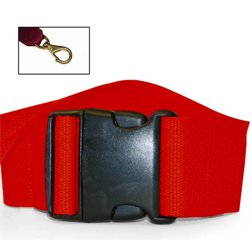 2-Piece Polypropylene Strap with Plastic Side Release Buckle & Big Mouth Swivel Speed Clip Ends