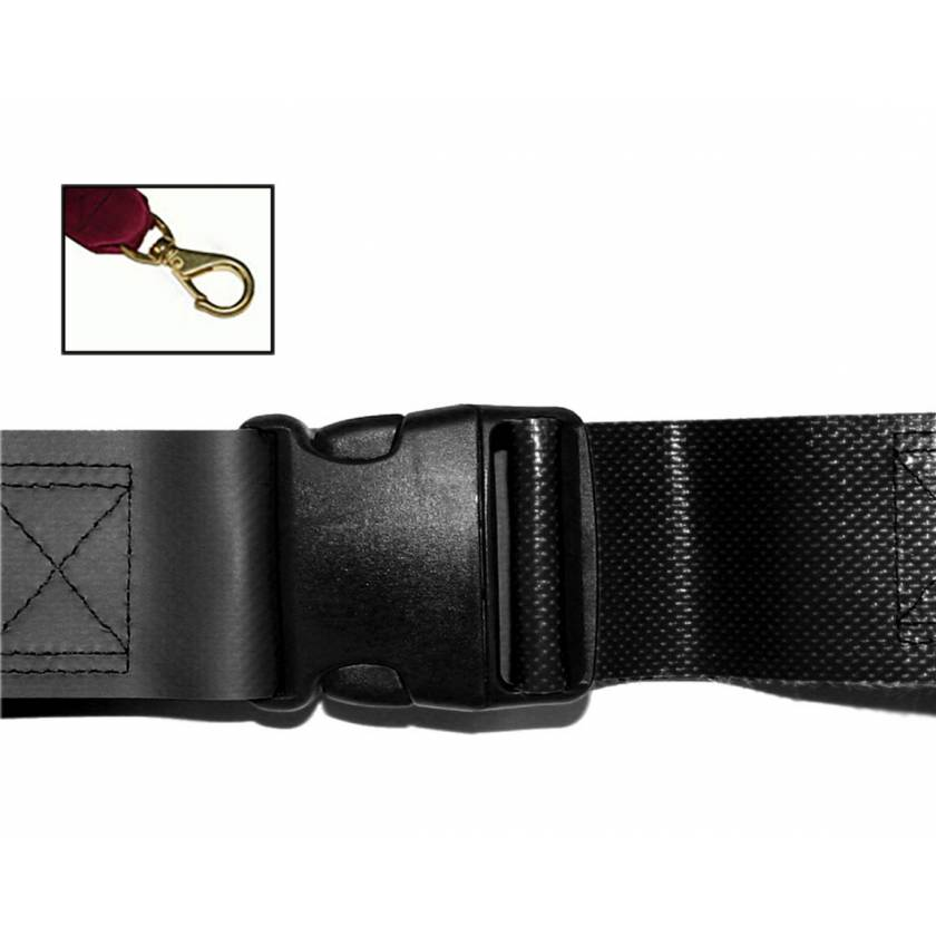 2-Piece Impervious Vinyl Strap with Plastic Side Release Buckle & Big Mouth Swivel Speed Clip Ends
