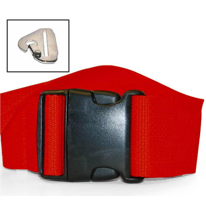 2-Piece Polypropylene Strap with Plastic Side Release Buckle & Metal Non-Swivel Speed Clip Ends