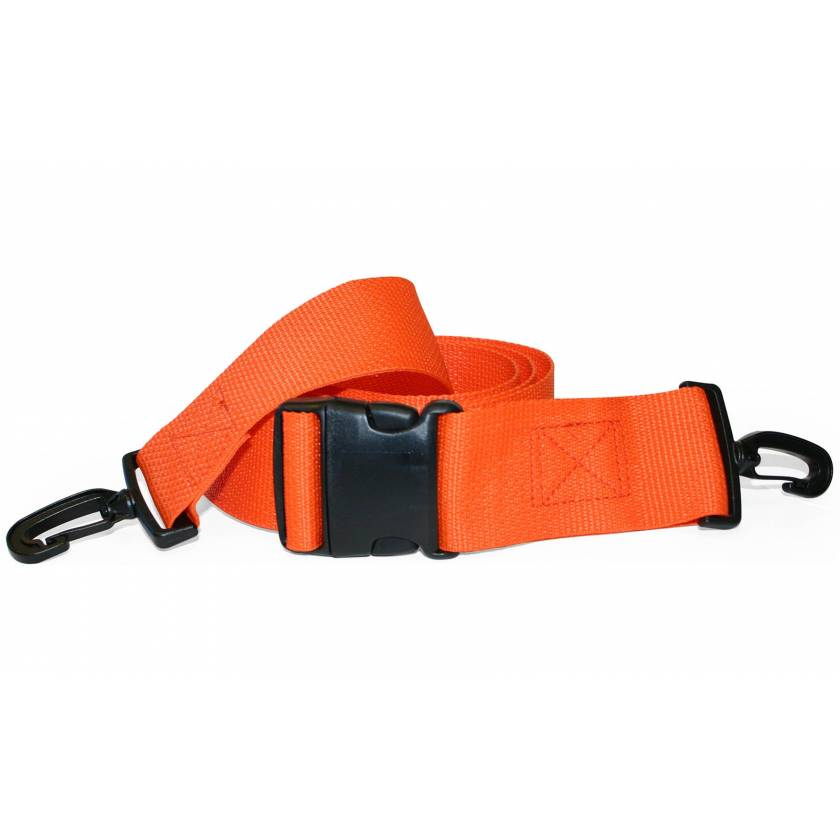 2-Piece Disposable Polypropylene Strap with Plastic Side Release Buckle & Plastic Swivel Speed Clip Ends