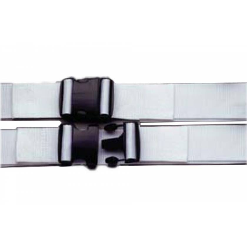 1-Piece Disposable Polypropylene Strap with Double Adjust Plastic Side Release Buckle