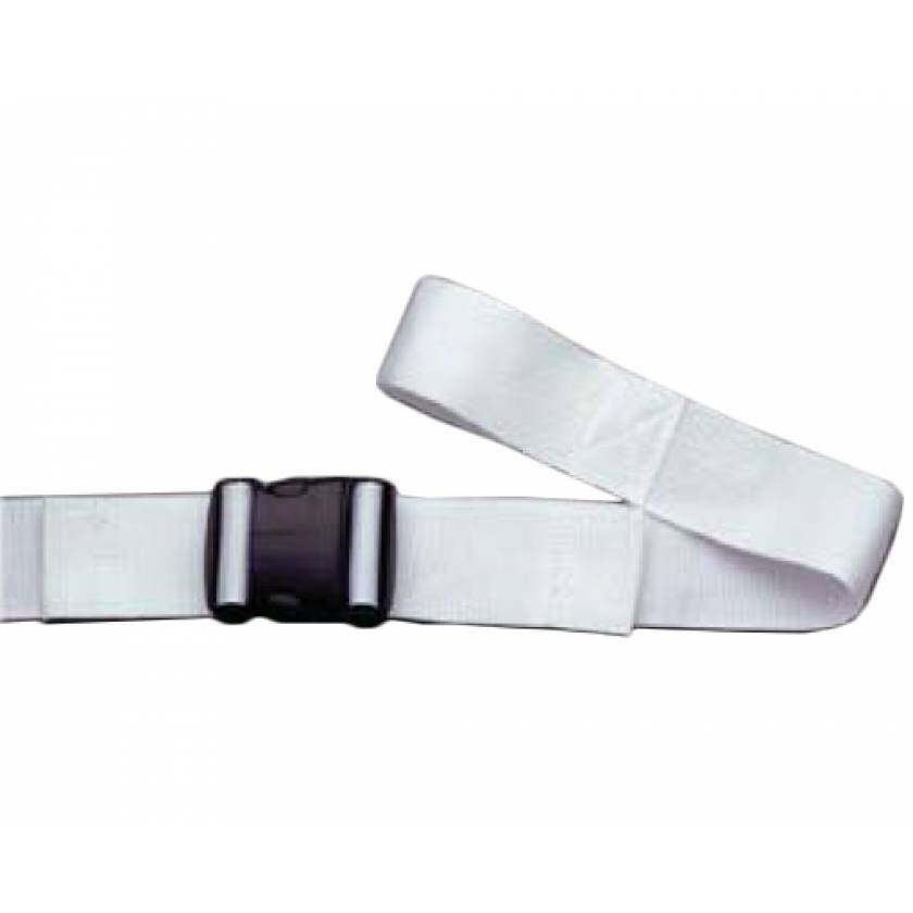 2-Piece Disposable Polypropylene Strap with Double Adjust Plastic Side Release Buckle & Loop-Lok Ends