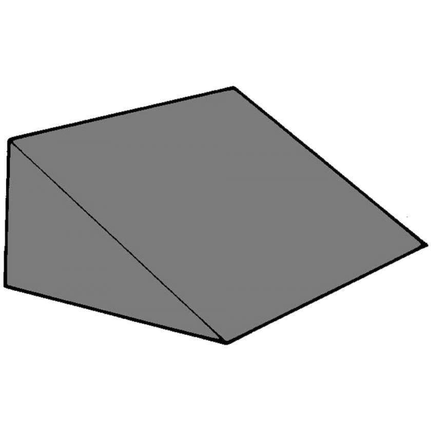 "Cranial Wedge Foam Positioning - 27 Degree - 6""H x 10""W x 10""L"