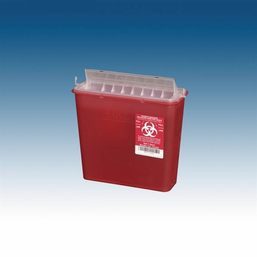 5 Qt. Sharps Container Red