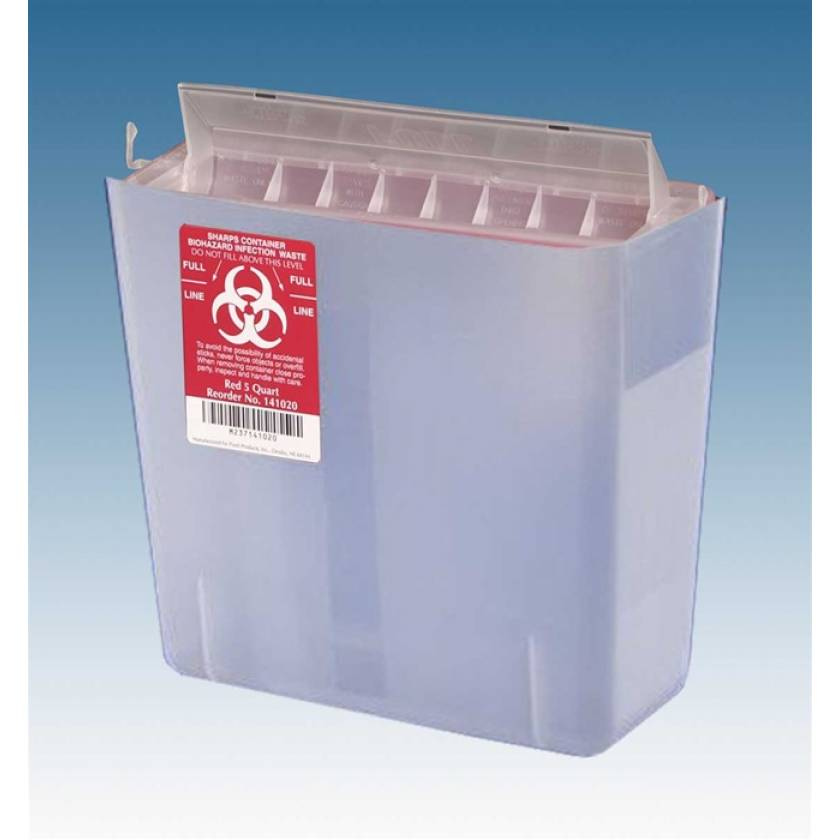 5 Qt. Sharps Container Clear