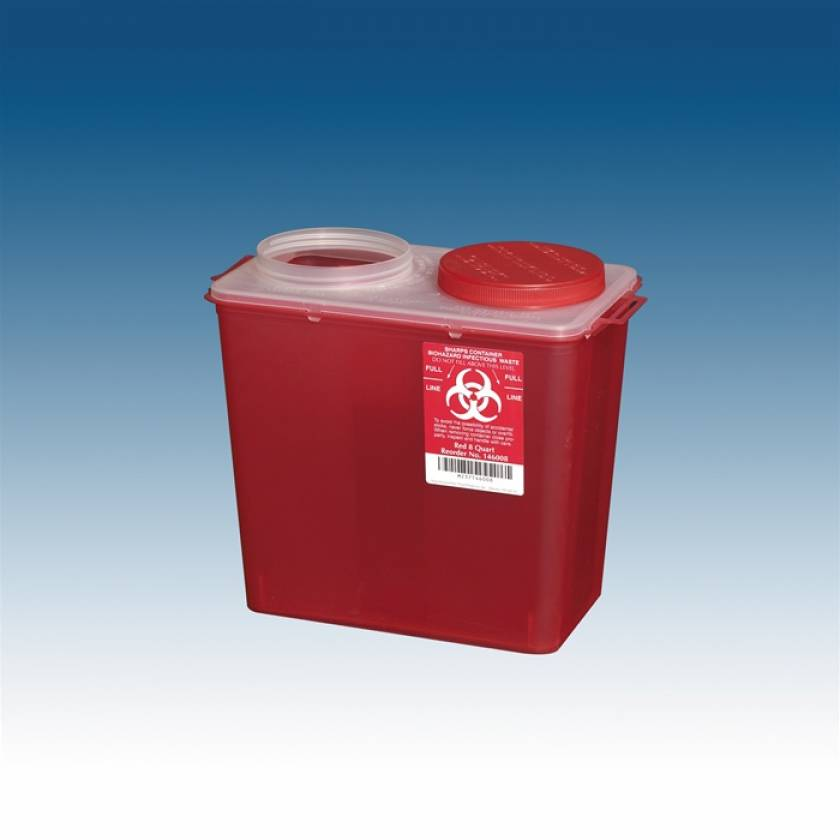 8 Qt. Big Mouth Sharps Container Red