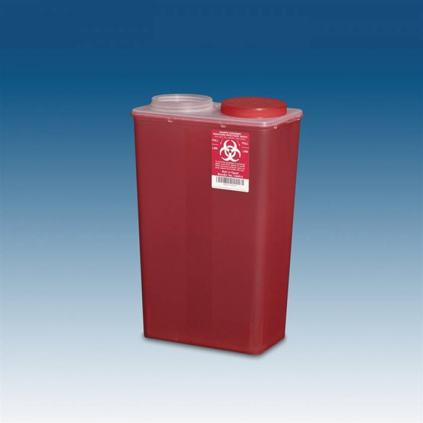 14 Qt. Big Mouth Sharps Container Red