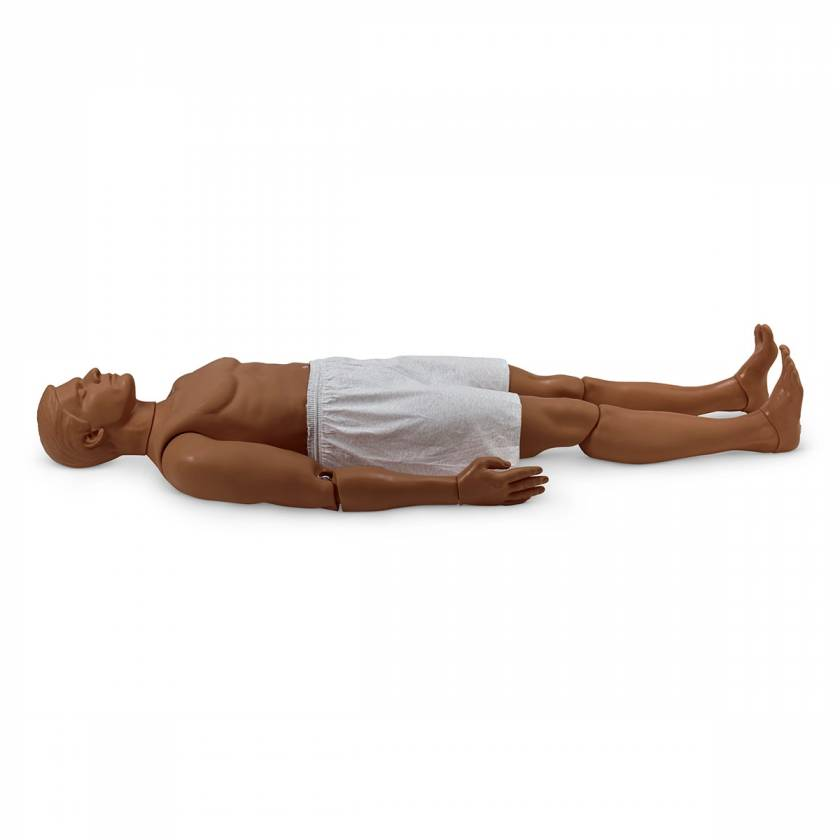 Simulaids Rescue Randy Combat Challenge 165-lb. Weighted Adult Manikin - 55 in. L x 27 in. W x 13 in. D - Dark