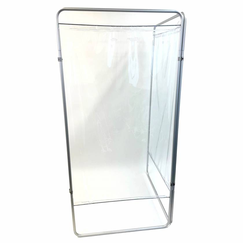 OmniMed 153901_CL King Economy Protection Screen with U-Hinge and Clear Vinyl Panel - 2 Section