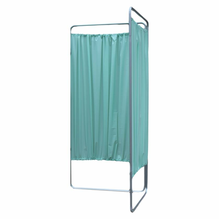 OmniMed 153901_GR King Economy Privacy Screen with U-Hinge and Green Vinyl Panel - 2 Section