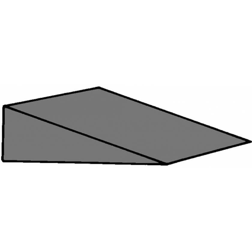 "Cranial Wedge Foam Positioning - 15 Degree - 3""H x 11""W x 7""L (Set of 2)"