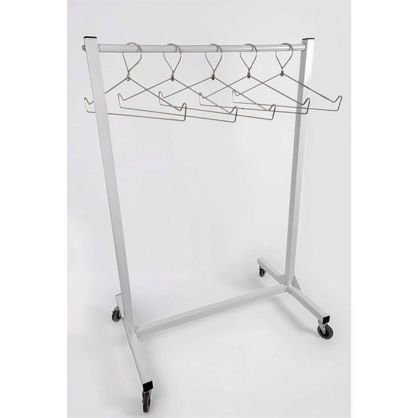 "Garment Style Apron Storage Rack - 48"" Wide"