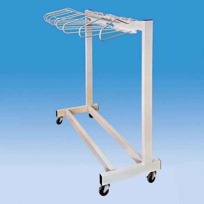 Garment Style Mobile 10 Arm Apron Rack