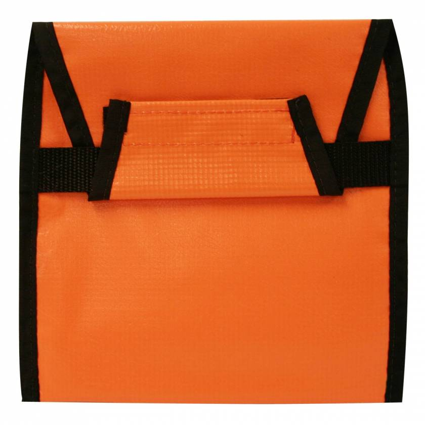 "Strap Carrying Case - Orange Vinyl - 8.5"" x 8.5"""