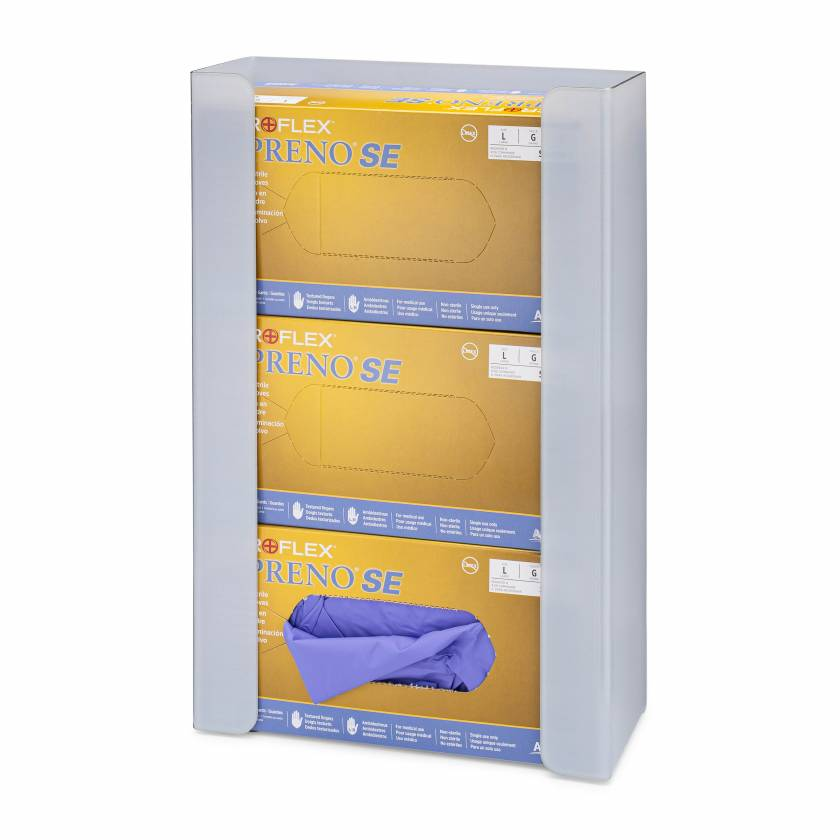 FlexiStore Open Flex Fill Glove Dispenser - 3 Boxes - Ice Gray