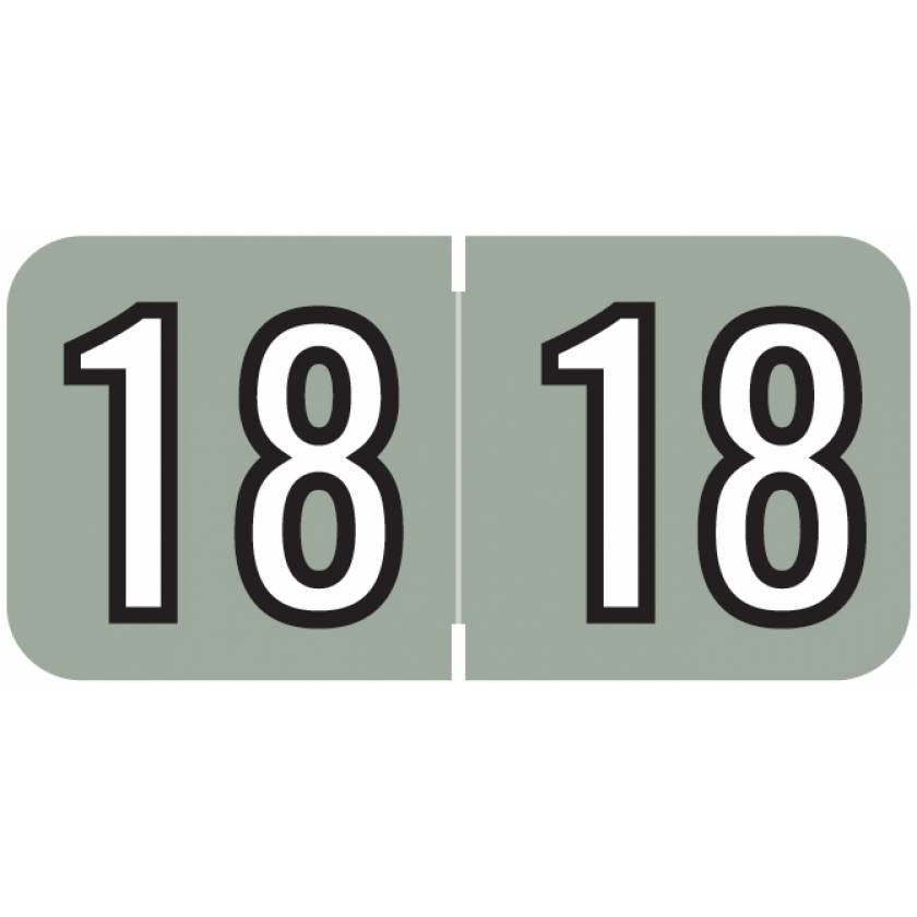 """2018 Year Labels - Barkley Compatible - Size 3/4"""" H x 1 1/2"""" W"""