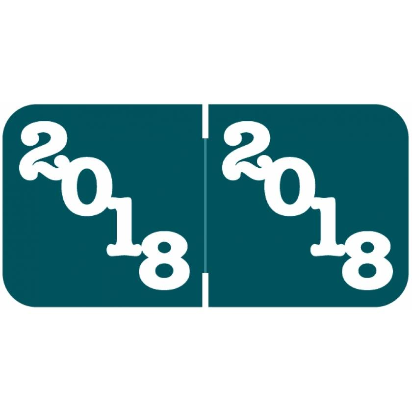 """2018 Year Labels - Jeter Compatible - 3/4"""" H x 1 1/2"""" W"""