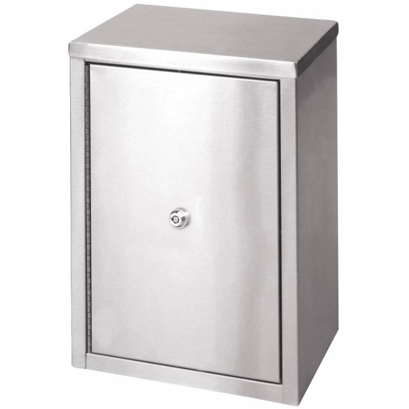 """Medium Double Door, Double Lock Narcotic Cabinet - 15"""" x 11"""" x 8"""" D"""