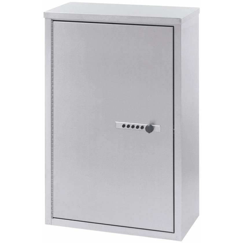 "Large Double Door Narcotic Cabinet with Combination Lock - 24"" H x 16"" W x 8"" D"
