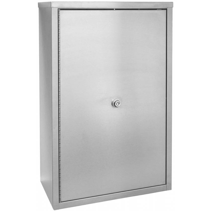 """Large Double Door, Double Lock Narcotic Cabinet - 24"""" H x 16"""" W x 8"""" D"""
