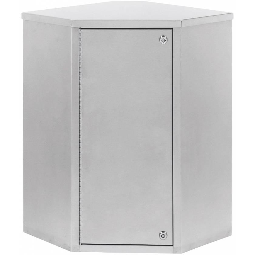 """Corner Narcotic Cabinet, Single Door, Double Lock - 24"""" H x 24"""" W x 8"""" D"""