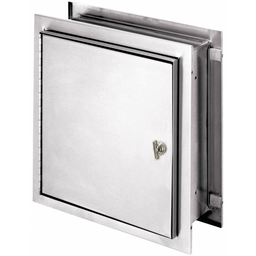 """Pass-Thru Narcotic Cabinet with Thumb Latch - 12"""" H x 11.5"""" W x 6"""" D"""