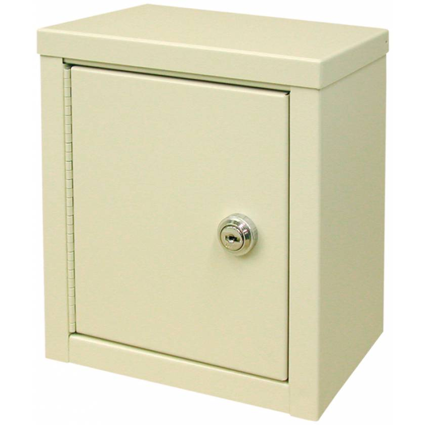 "Mini Economy Narcotic Cabinet, Double Door, Double Lock - 9"" H x 8"" W x 5 5/8"" D"