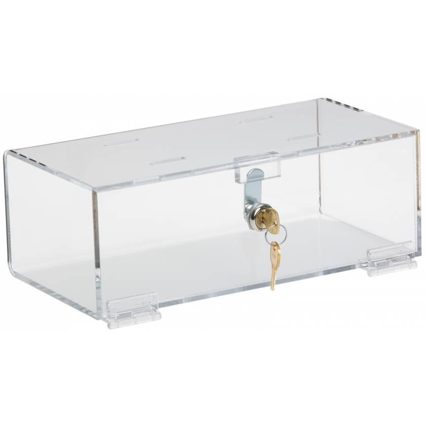 "Refrigerator Lock Box - Clear Acrylic - 4.25"" H x 12"" W x 6"" D"