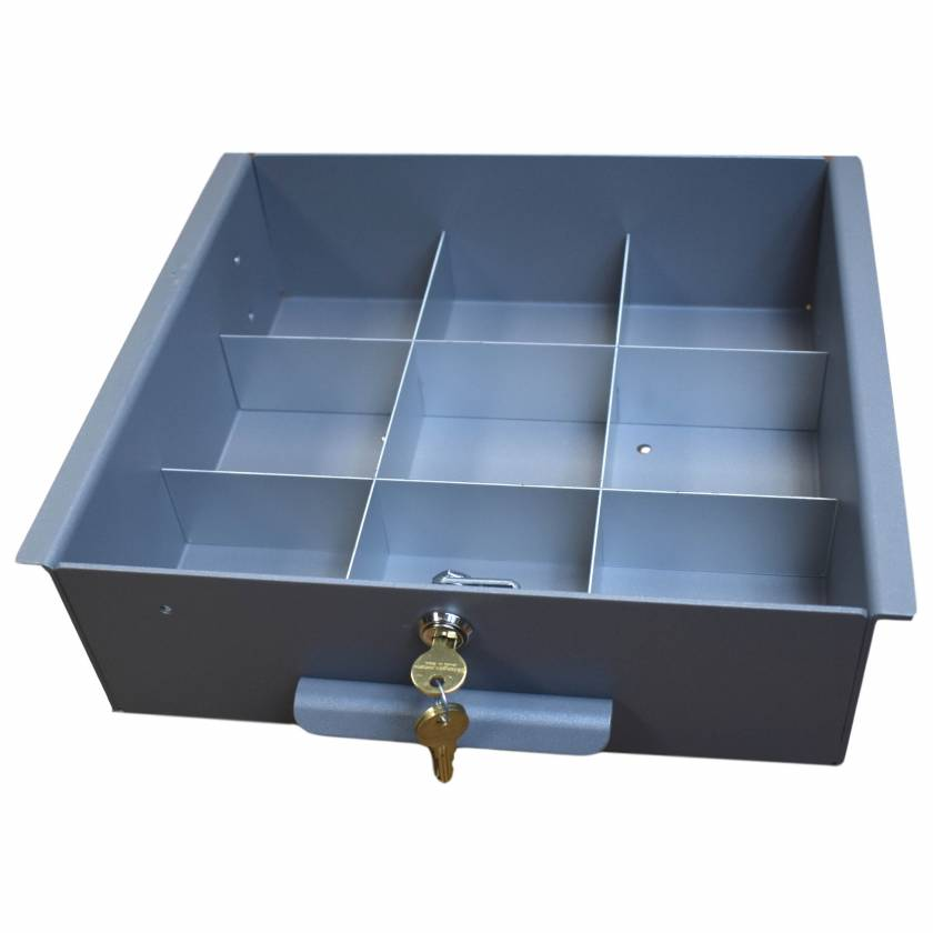 Model 183027 Omni Drawer Dividers for Medium Aluminum Refrigerator Lock Box (Image shown Drawer with Key Lock not included)