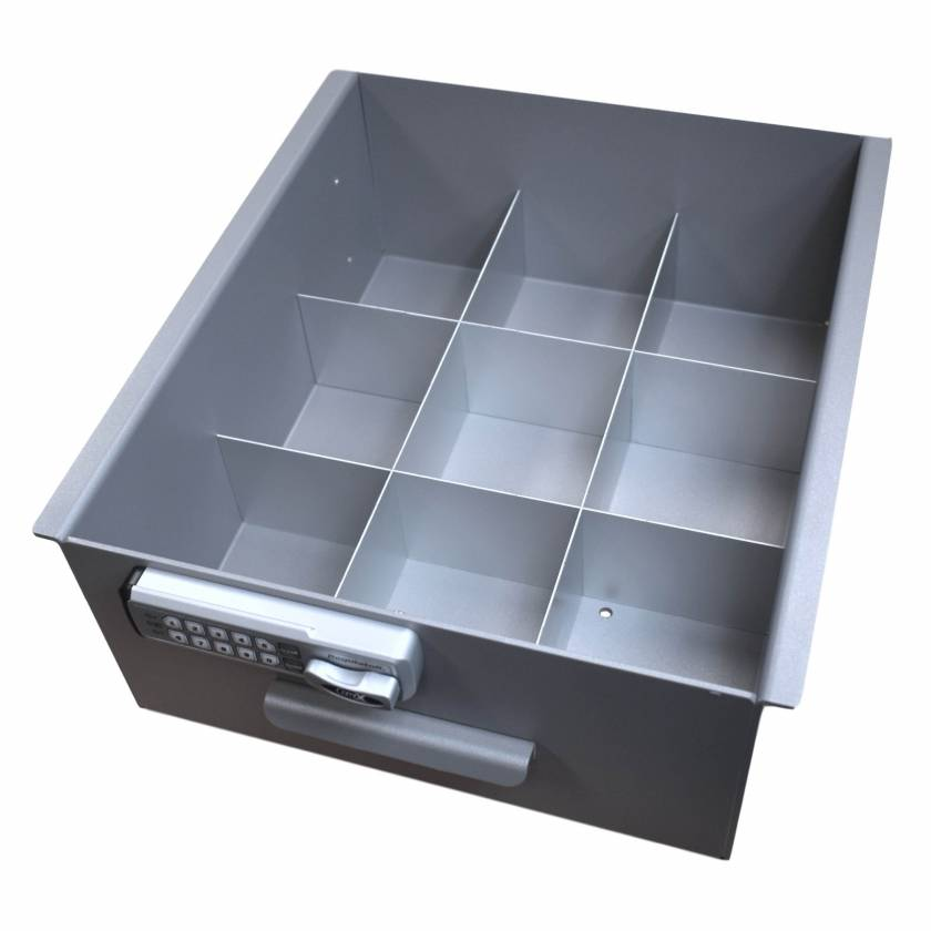 Model 183037 Omni Drawer Dividers for Large Aluminum Refrigerator Lock Box (Image shown Drawer with E-Lock not included)