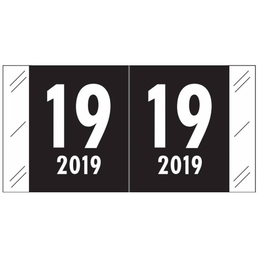 "2019 Year Labels - Col'R'Tab Compatible - Size 3/4"" H x 1 1/2"" W"