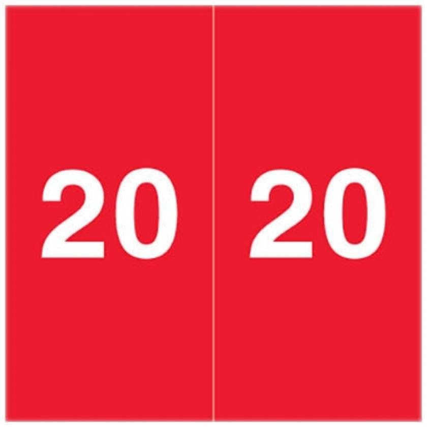 """2020 AEYM Year Labels - Ames Compatible - Size 1 7/8"""" H x 1 7/8"""" W"""