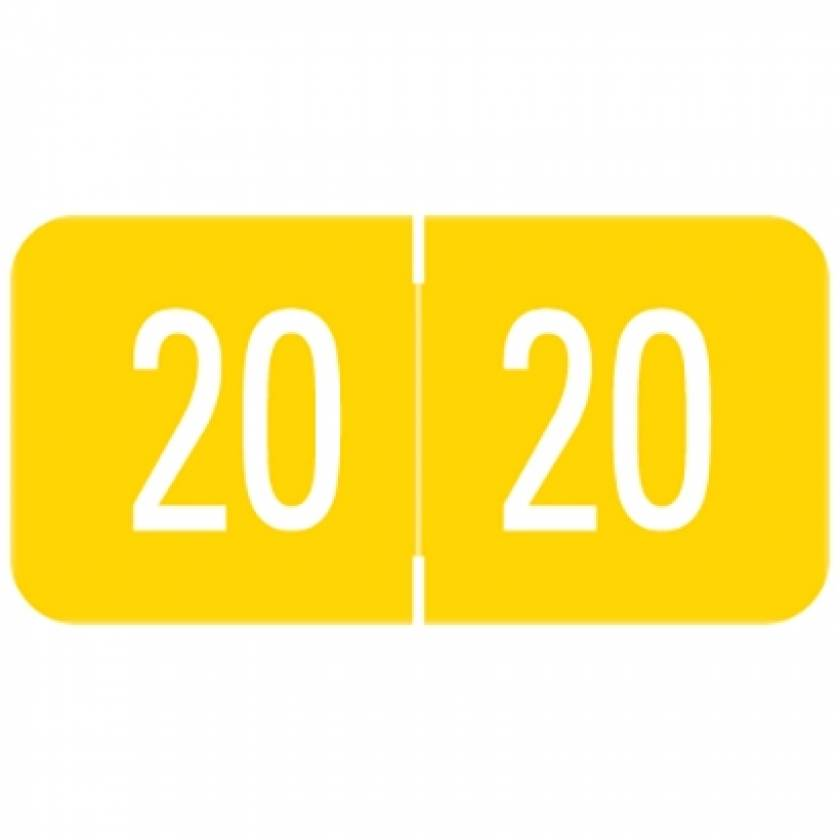 """2020 VRYM Year Labels - VRE / GBS Compatible - Size 3/4"""" H x 1 1/2"""" W"""