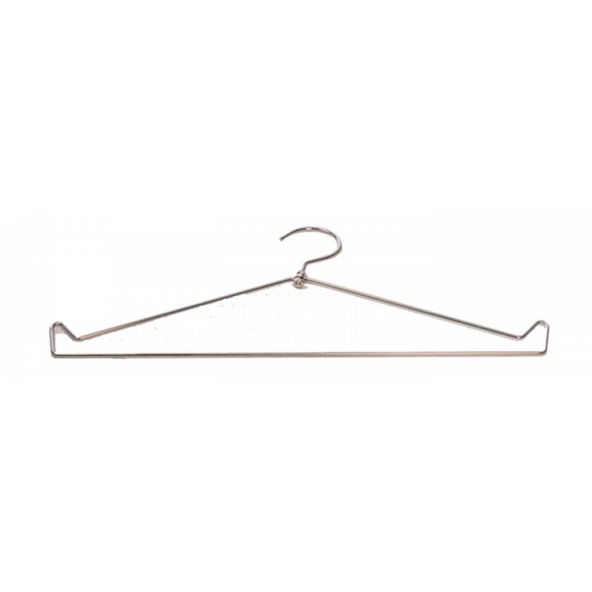 Open Top Chrome Wire Apron Hanger