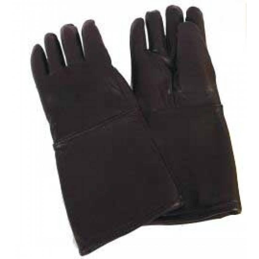 Seamless Lead Leather Gloves - Black