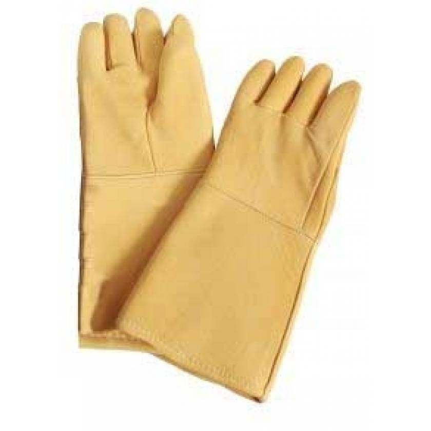 Seamless Lead Leather Gloves - Fawn